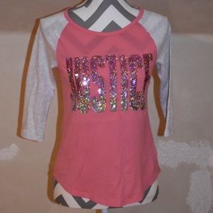 Justice Girls 3/4 Sleeved Sequin Shirt